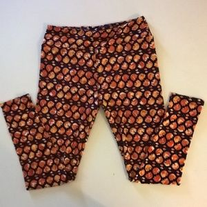 lularoe leggings tall & curvy floral orange fall